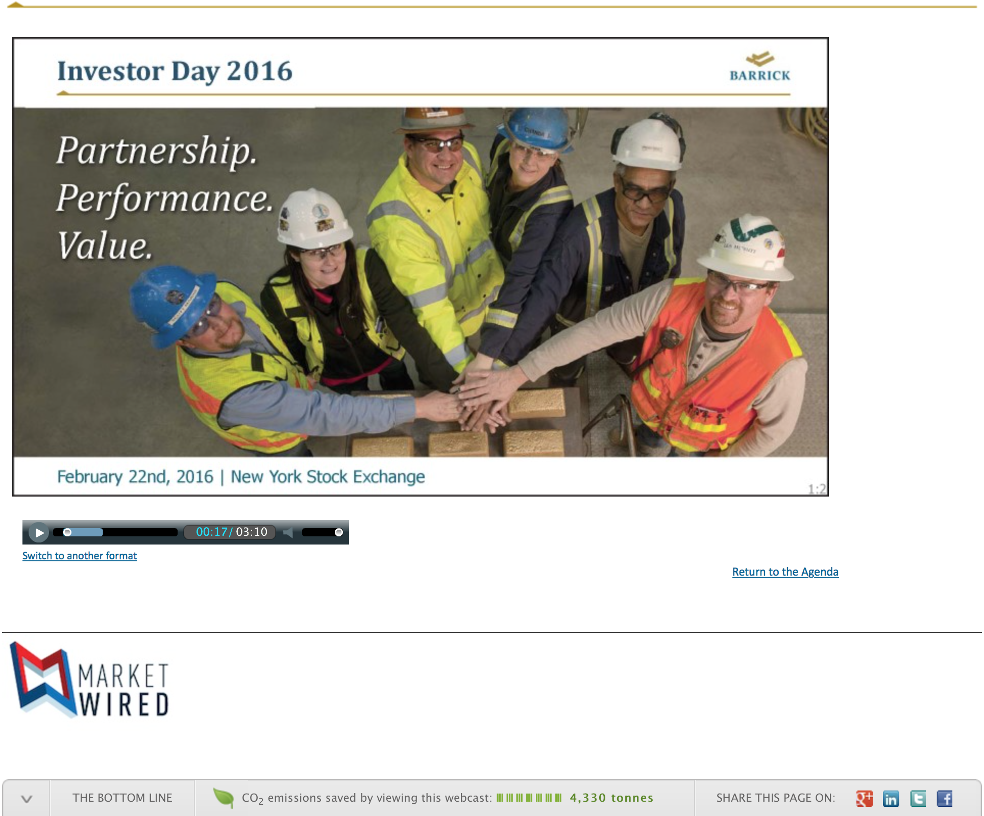 Barrick Investor Day